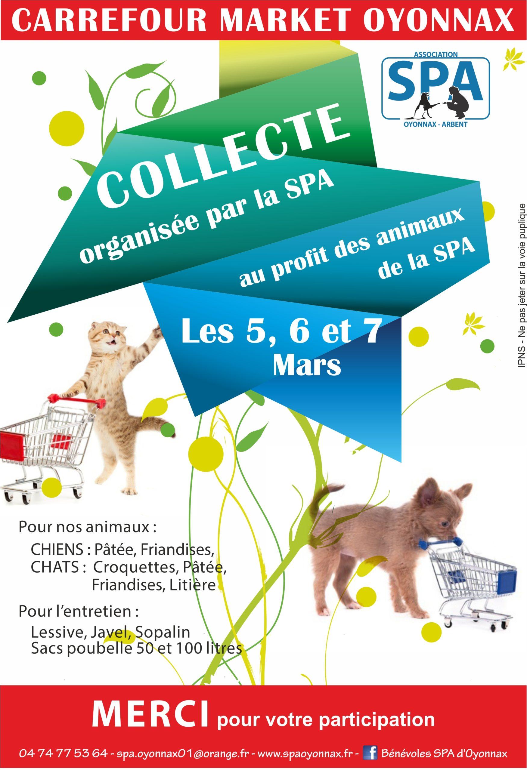 Affiche Collectes Carrefour